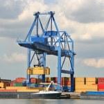 Large Harbor Crane — Stock Photo
