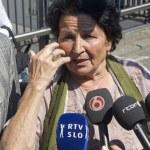 Постер, плакат: Interview tijdens het Mladic proces