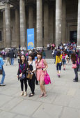 Asian Tourists at the British Museum — Stock Photo