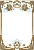 Steampunk style frame — Stock Vector