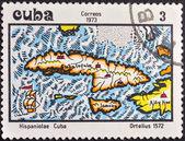 古巴邮票 1973 — 图库照片