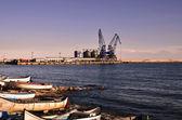 Commercial docks — Stock Photo