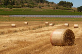 Bales and panels — Stock Photo