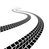 Traza sinuosa de los neumáticos — Vector de stock