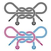 обуви кружева узел символы — Cтоковый вектор
