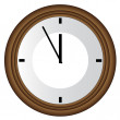 Stock Vector: Wall clock