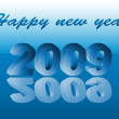 Stock Vector: New year 2009