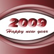 Red new year 2009 — Stock Vector #11492111