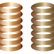 Stock Vector: Metal springs