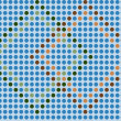 Blue mosaic - seamless wallpaper — Stock Vector