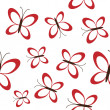 Red butterflies seamless — Stock Vector