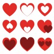 Set of hearts — Stock Vector #11492671