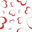Stock Vector: Hearts - seamless wallpaper