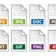 Document icons - Stok Vektör