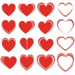 Set of hearts — Stock Vector #11492697