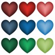 Set of hearts — Stock Vector #11492721