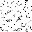 Royalty-Free Stock Vector Image: Musical seamless wallpaper