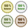 Set of bottle caps - Stock Vector