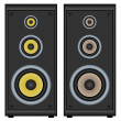 Stock Vector: Audio speakers