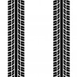 Seamless trace of the tyres - Stock Vector
