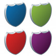 Shields - 3d badges — Stock Vector
