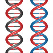 Seamless DNA - Stock Vector