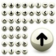 Arrow buttons - Stock Vector