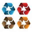 Colored recycle icons — Stock Vector