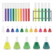 Laboratory flasks and test tubes — Vettoriali Stock