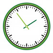 Clock face - easy change time — Stockvectorbeeld