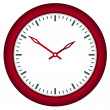 Stock Vector: Clock face - easy change time