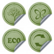 Stock Vector: Scratched eco stickers