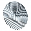 3d abstract fingerprint — Imagen vectorial