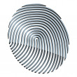 3d abstract fingerprint — Stock Vector