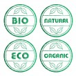 Scratched eco stamps — Stock Vector