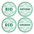 Stock Vector: Eco stamps