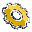 3d shiny sprocket — Stock Vector