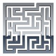 3d shiny maze — Stock Vector
