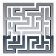 3d shiny maze - Stock Vector