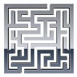 3d shiny maze — Stock Vector #11494028