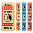 Stock Vector: Cinema tickets
