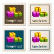 Stock Vector: Postage stamps