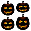 Halloween pumpkins — Stock Vector #11494127