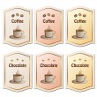 Coffee and chocolate labels — Stock Vector