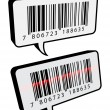 Barcode speech bubbles — Stok Vektör