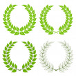 Stock Vector: Laurel wreaths
