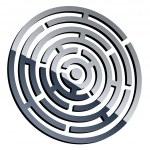 3d shiny maze — Stock Vector #11494413