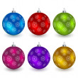 Christmas balls — Vector de stock #11494537
