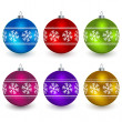 Christmas balls — Vector de stock #11494539
