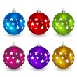 Christmas balls — Vector de stock #11494541